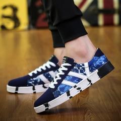 2017 Summer Canvas Men Shoes Fashion Male Footwear Espadrille Fisherman Shoes blue 42