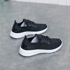 2017 new Net yarn women casual flat shoes fashion slip on round toe loafers Breathable shoes black 35