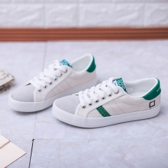 2017 White High Quality Canvas Shoes Women Casual Trainers Thick Sole Zapatillas Mujer green 35