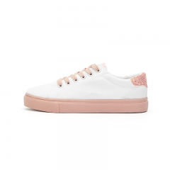 2017 Women Shoes Summer Casual Shoes Women Canvas Shoes Flats Breathable Solid Flat With Shoes pink 35