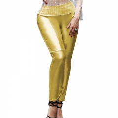 Beauty Garden Autumn Women Vintage Club Casual Pants Fashion Style Sexy Evening Party Ladies Pants gold m