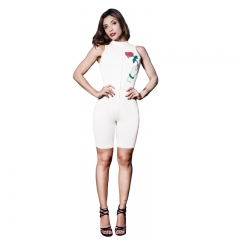 Beauty Garden Casual Bodycon Sexy Jumpsuit Playsuit Sleeveless Fashion Style Rompers Womens Jumpsuit white m