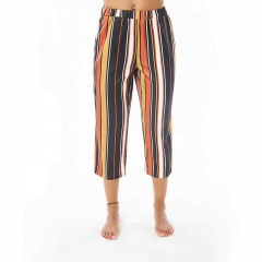 Womens Summer Autumn High Waist Wide Leg Casual Striped Pants Trousers as picture m