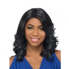Fashion High Temperature Female Silk Black Long Hair Wigs balck one size