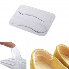 Hot sales 1 Pair Self-adhesive Silicone Gel Heel Cushion Foot Care Shoe Pads Shoe Insoles show as the picture one size