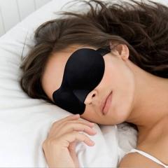 3D Sleep Mask Natural Sleeping Eye Mask Eyeshade Cover Shade Eye Patch Women Travel Eyepatch Black