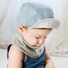 Fashion Cat Baby Hats Unisex Girls Boys Baseball Caps Beanie Cartoon Summer Sun Hat blue one size