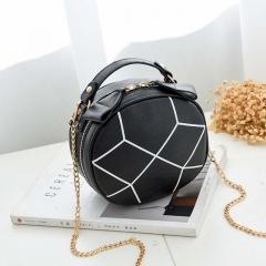 Female Bag One Shoulder Oblique Cross Bag Handbag Plaid Mini Change Makeup Bag black one size