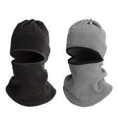 Multi-purpose fleece windproof protection face mask CS mountain bike bicycle gear set one size black