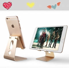 Phone support Tablet metal bracket of aluminum alloy adjustable mobile phone desktop heat shield black one size