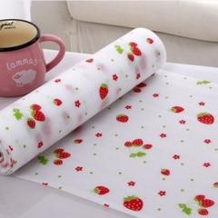 Waterproof Self Adhesive Drawer Papers Pastoral Strawberry Table Drawers Wardrobe Sticker 30X300CM show as the picture one size