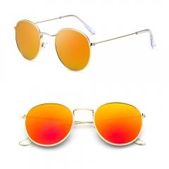 Fashion Women Sunglasses Anti-UV Round Sun Glasses Orange 3447