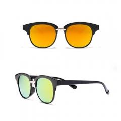 Clubmaster Sunglasses Classic 80's Vintage Style Design orange 001