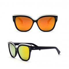 Womens Designer Sunglasses Oversized Fan Color Top Frame orange 001