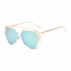 Color lens Sun Glasses For Women  Polygon Women sunglasses green 001