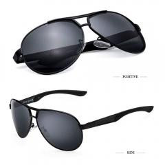 Fashion Men's UV400 Polarized Sunglasses men Driving Aviator Mirrors Eyewear Sun Glasses for Men black RBSC