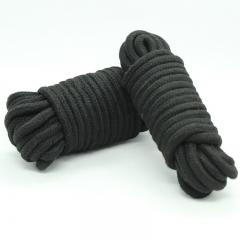 BDSM Bondage Restraint Soft Silk Rope 32-foot 10m Long Soft Cotton Rope black Q20