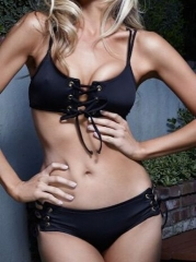 Sexy Black Bikini Two Piece Swimsuit black s