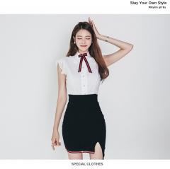 New Women's Wear Two Shirt Collar Shirt, Irregular Bag, Buttocks Dress Set as picture s