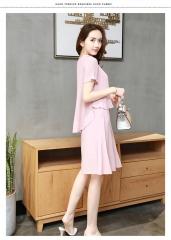 A Two-Piece Blouse Plus A Hip Skirt Suit Skirt pink l