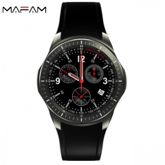 MAFAM DM368 smart business watch AMOLED full round screen GPS android 5.1 WIFI  3G call step tracker black 260*58*15mm