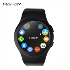 MAFAM G3 fashionable business smart watch, full round IPS screen plug-in card heart rate monitoring black 53*44*11mm