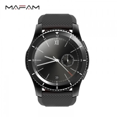 MAFAM G8 smart watch round screen multiple mode heart rate blood pressure monitor  plugged-in card black 53*44*11mm