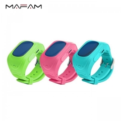 MAFAM Q50 children's smart positioning watch GPS  light sensation remote monitoring One Touch SOS black 53*44*11mm