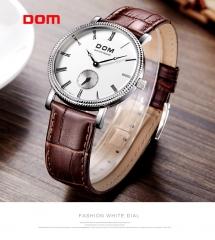 DOM quartz fashion watch belt DOM brand authentic men's watch white 40mm*10mm