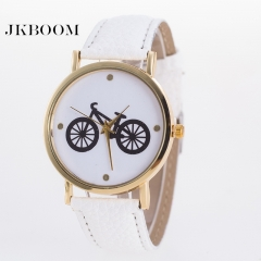 JKBOOM Hot bike belt watch Fashionable quartz watch lady Wristwatch white
