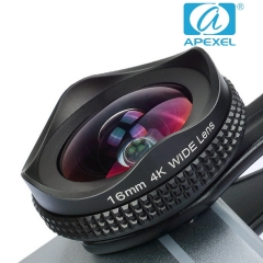 APEXEL APL-16MM 16MM Wide Angle Polarization Two-in-one Suit 4k hd SLR General external phone lens black 105*70*40mm