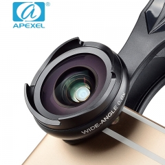APEXEL New No distortion No dark Angle Wide Angle Macro Lens Two-in-one suit general SLR external black 105*70*40mm