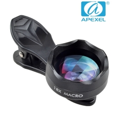 APEXEL external camera 18X Macro Jewelry and insect hd shooting general phone lens black 105*70*40mm