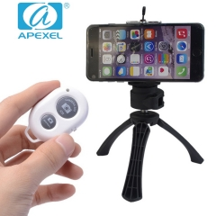 APEXEL APL-JJ01 phone stand Mini photo Portable external Lens holding stable tripod black 105*70*40mm
