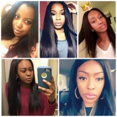 1 piece 8A Brazilian virgin hair 100%human hair weave straight silk soft 3pcs 100g/pc nature black black 10