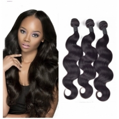 9A Grade Hair brazilian virgin body wave human hair 100g/pc Natural Black Color black 10