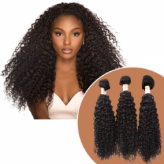 100% Unprocessed 1 Bundle Brazilian Human Hair Wig Extension Jerry Curly 100gram black 10inch