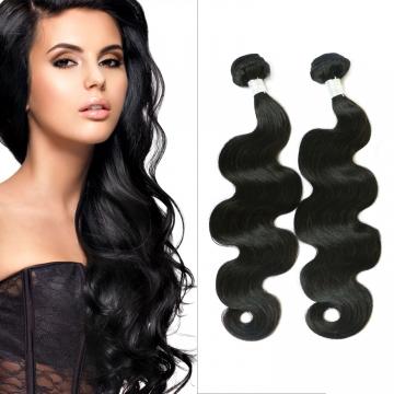 100%human hair weave body wave Brazilian Peruvian virgin hair 1pcs 100g/pc 10- 30inch nature black black 14