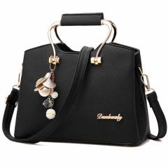 Aitesen Women Handbag Lovely Elegant Single Shoulder One Size black 27*14*20cm