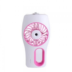 Preferential Small summer air-conditioning fan hairdressing Spray water inlet fan USB charging green pink