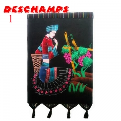 National wind handicrafts, batik exquisite hand-painted pictures, home decoration 1 70X54cm