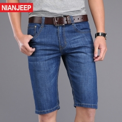 JEEP denim shorts, business men's trousers, fashion (good Chinese goods) blue 28