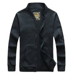 JEEP brand men's handsome coat baseball uniform and undress fashion sportswear in three colors Sapphire blue M