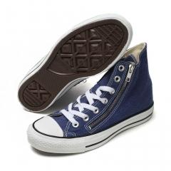 Street dancing shoes (limited sale) men and women shoe canvas shoes flat hip-hop plain young shoes Blue 144085 c 36