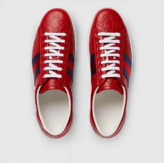 The new style shoes low to help the casual men's shoes to increase the size of the leather red 39