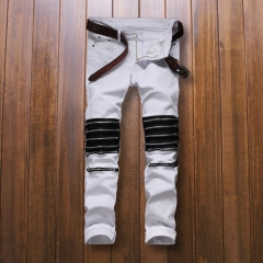 Club men's hole zipper cut off punk pants fashion scooter shorts casual the picture color 29
