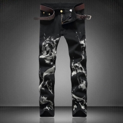 Stretch a pair of jeans with a pair of jeans and a pair of jeans and a black man the picture color 29