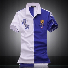Exclusive official website new color of the short sleeve polo shirt high quality cotton men handsome blue m