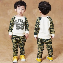 The mother's choice of children to wear the boy's camouflage leisure long sleeve pantsuit 53 90cm