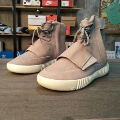 Increase the size of men's sports shoes stars also wear shoes Paris fashion Yeezy Boost 750 dark grey 40